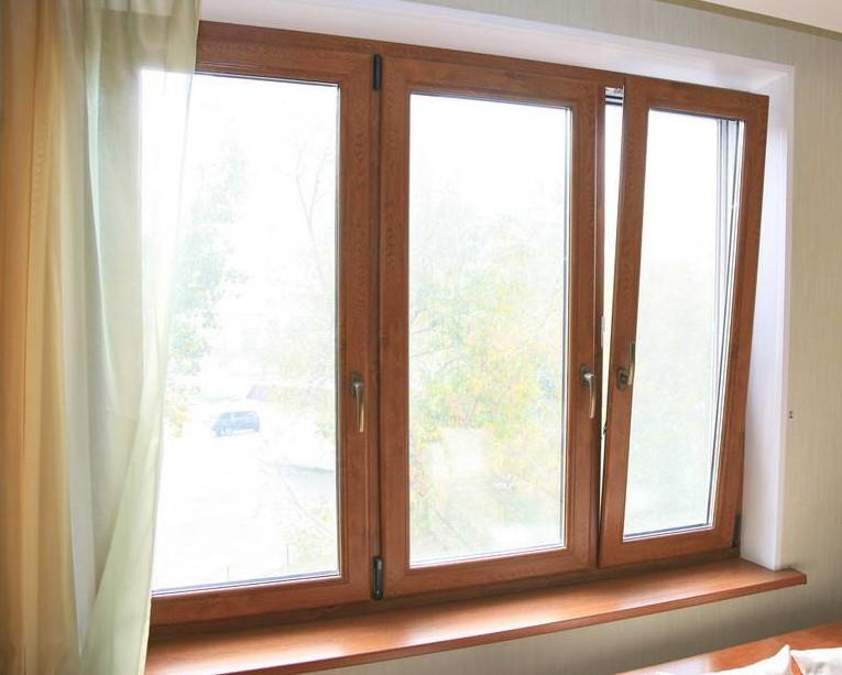 Коричневые окна Места для установки
